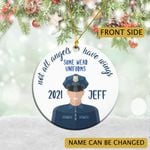 Personalized Christmas Gift For Police Husband Ornament