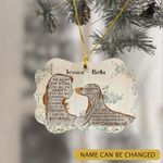 Personalized Dachshund Lover And Girl Ornament