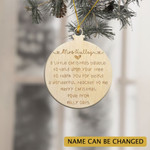 Personalized Merry Christmas Teacher Bauble 2021 Ornament