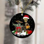 Christmas Baby Yoda Groot Ornament