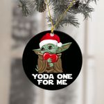 Christmas Baby Yoda One For Me Ornament