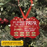 Personalized Fishing Papa Ornament We Hooked The Best Papa