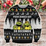 Pizza Dude's Got 30 Seconds Ninja Turtle Christmas Sweater