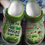 I'm 100% That Grinch Christmas Crocs Classic Clogs Shoes