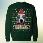 Merry Pitmas Pitbull Dog Christmas Ugly Sweater