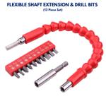 Flexible Shaft Extension + Bits (12 Pc Set)