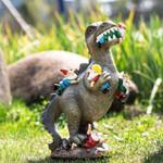 Dinosaur Eating Gnomes Garden Decor