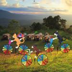 Orange Cat Bicycle Wind Spinner