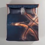 Abstract Basketball on Dark 2 - Sport Bedding Set Duvet Cover