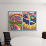 1960S 1970S Art Style Colorful Psychedelic - Psychedelic Canvas Art Wall Decor
