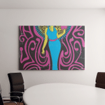 1970S Style Psychedelic Art Woman Heart - Psychedelic Canvas Art Wall Decor