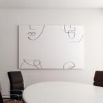 Abstract One Line Face Modern Design Canvas Art Wall Decor