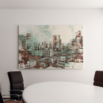Cityscape Abstract Texturesillustration Painting Canvas Art Wall Decor