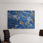 Classic Blue Extra Special Luxurious Oriental Canvas Art Wall Decor