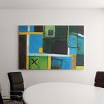 Modern Abstract Art Original Artwork Blue Canvas Art Wall Decor