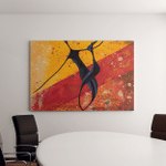 African Couple Dance On Floor Digital Canvas Art Wall Decor