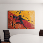 African Couple Dancing Digital Painting Canvas Canvas Art Wall Decor