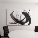 Abstract Brush Strokes Splashes Paint On Canvas Art Wall Decor