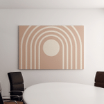 Neutral Tones Abstract Geometric Art Vector Canvas Art Wall Decor