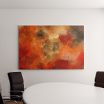Art Abstract Painted Bright Red Background Canvas Art Wall Decor