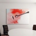 Abstract Digital Painting Classic Guitar Canvas Art Wall Decor