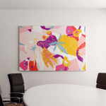 Abstract Floral Elements Paper Collage Illustration Canvas Art Wall Decor
