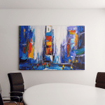 Oil Painting City View New York Canvas Art Wall Decor