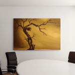 Oil Painting Dead Tree On Cracked Canvas Art Wall Decor