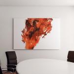 Art Creative Splash Pencil Horse Image Canvas Art Wall Decor