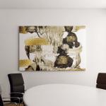 Art Gold Trendy Color Golden Paint Canvas Art Wall Decor