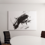 Abstract Ink Painting Artistic Black Pattern Canvas Art Wall Decor