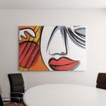 Abstract Jazz Art Base Guitar Vector Canvas Art Wall Decor
