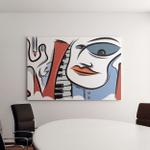 Abstract Jazz City Vector Art Canvas Art Wall Decor