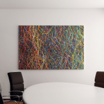 Abstract Lines Colorful Background Texture Party Canvas Art Wall Decor