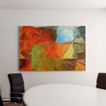 Oil Pastel Drawing Abstract Color Background Canvas Art Wall Decor
