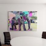 Abstract Memphis Digital Painting Indian Elephant Canvas Art Wall Decor