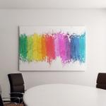 Colorful Pastel Sticks Texture Canvas Art Wall Decor