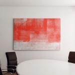Orange Beige Abstract Art Painting Canvas Art Wall Decor