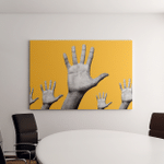 Contemporary Art Collage Concept Helping Five Canvas Art Wall Decor