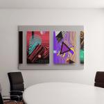 Covers Templates Set Bauhaus Memphis Hipster Canvas Art Wall Decor