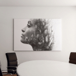 Paintography Photograph Combined Drawing Canvas Art Wall Decor