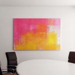 Pink Yellow Abstract Art Painting Canvas Art Wall Decor