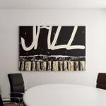 Playing Jazz Piano Hand Drawn Vector Canvas Art Wall Decor