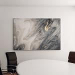 Deep Dark Oceanart Natural Gray Color Canvas Art Wall Decor