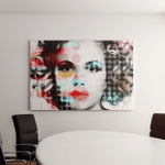 Poster Portrait Beautiful Girl Style Contemporary Canvas Art Wall Decor