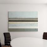 Blue Grey Abstract Art Painting Canvas Art Wall Decor