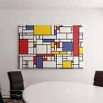 Seamless Abstract Mosaic Pattern Piet Mondrian Canvas Art Wall Decor