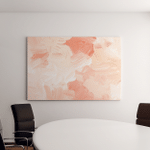 Abstract Pastel Peach White Art Painting Canvas Art Wall Decor