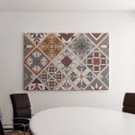 Seamless Ceramic Tile Colorful Patchwork Vintage Canvas Art Wall Decor
