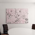 Seamless Floral Pattern Flowers On Light Canvas Art Wall Decor